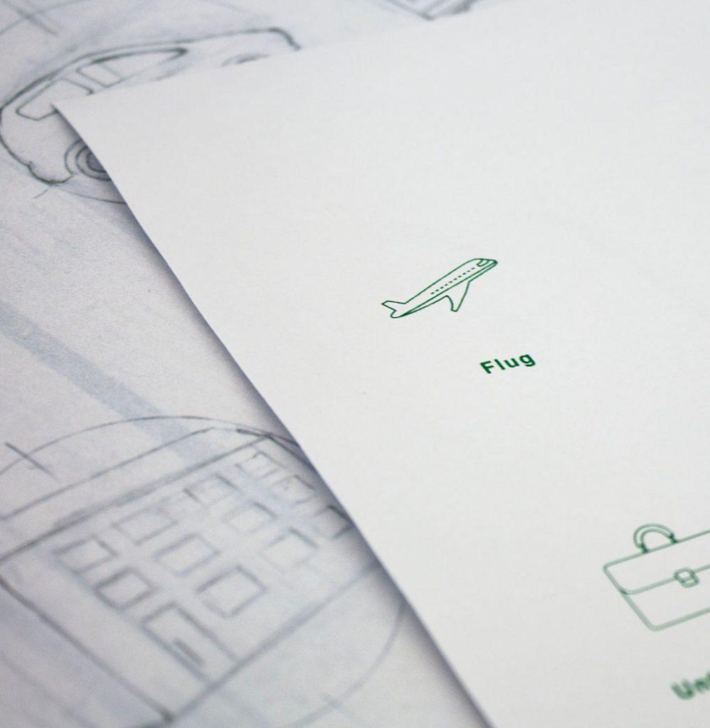 Klimakollekte Berechnung für Flug
