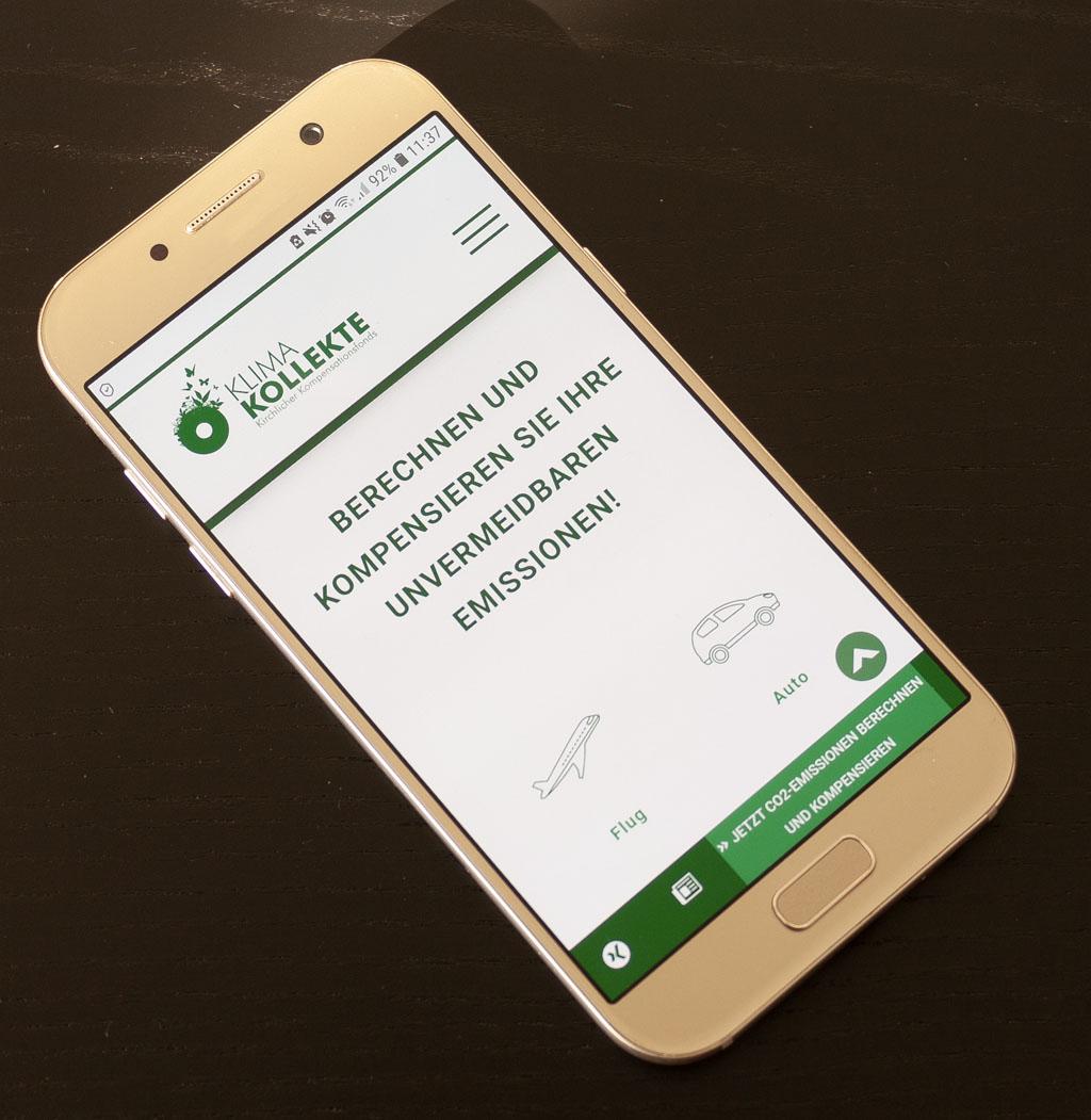 Klimakollekte mobile Ansicht