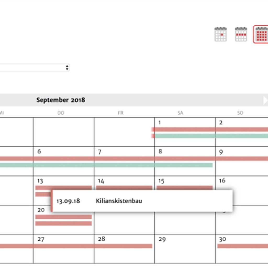 Kalenderfunktion SKFS