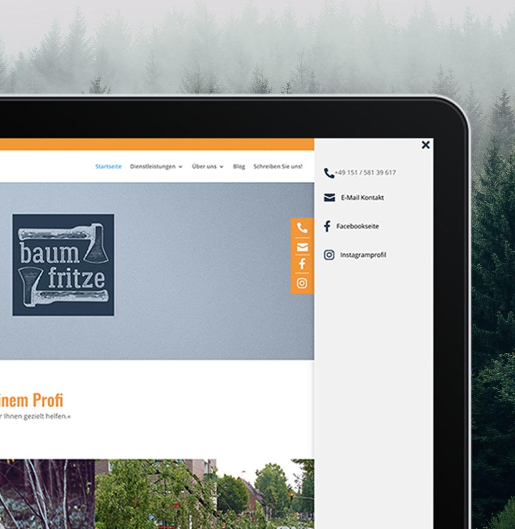Screenshot der Iconleister von baumfritze.de